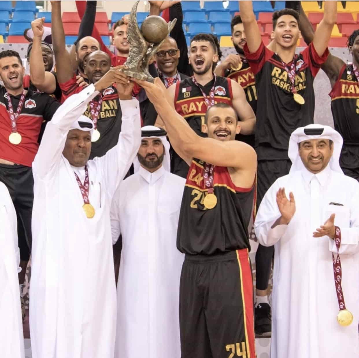 Mizo Amin lifting the Emir cup trophy